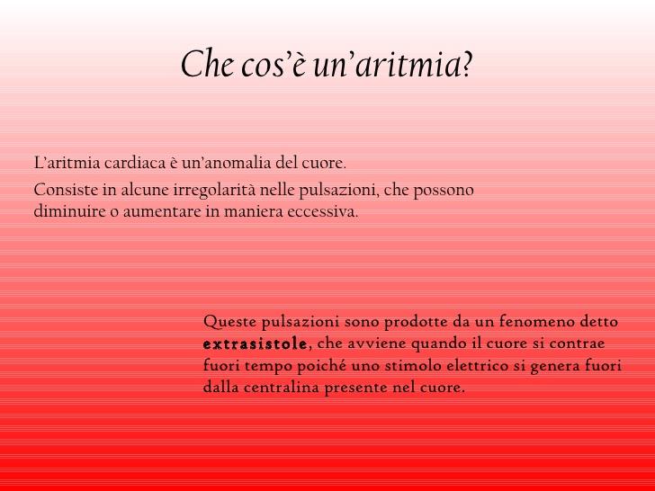 aritmia cuore
